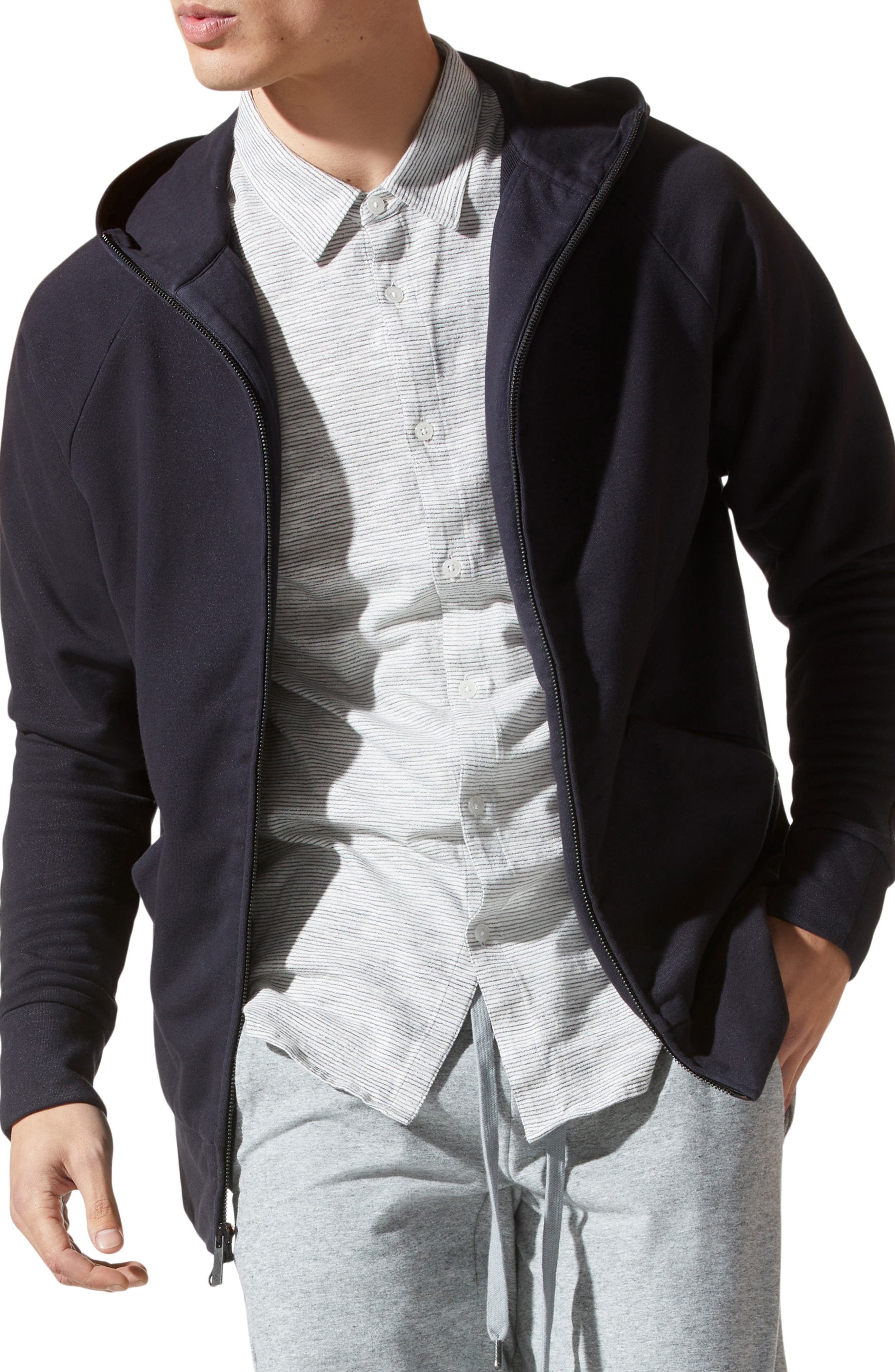 Premium French Terry Zip Up Hooded Jacket