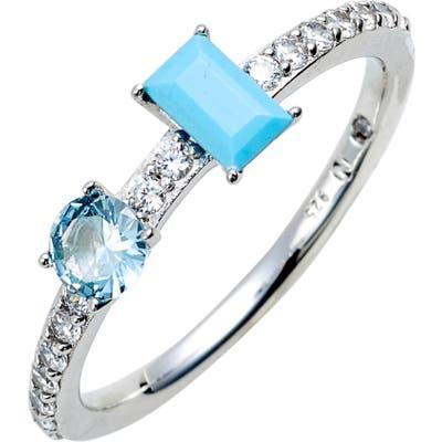 Nadri Turquoise & Crystal Ring