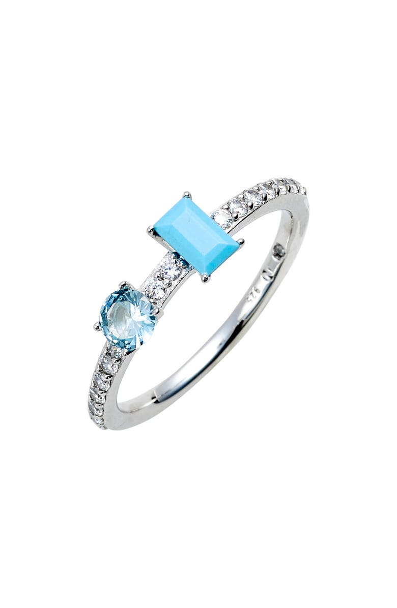 NADRI Turquoise & Crystal Ring, Main, color, 040