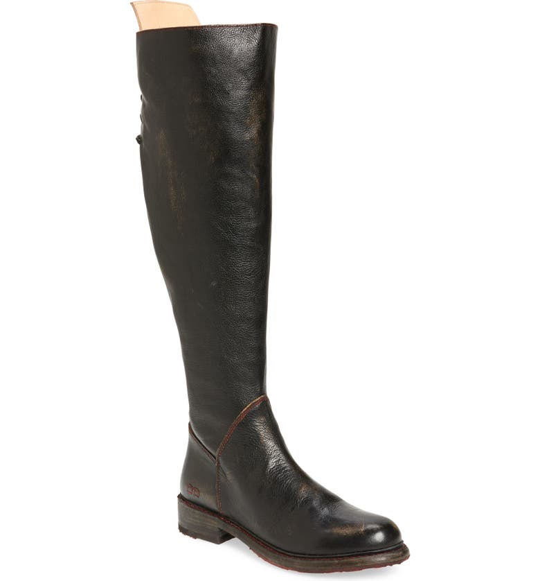 BED STU Manchester Over the Knee Boot, Main, color, BLACK HANDWASH