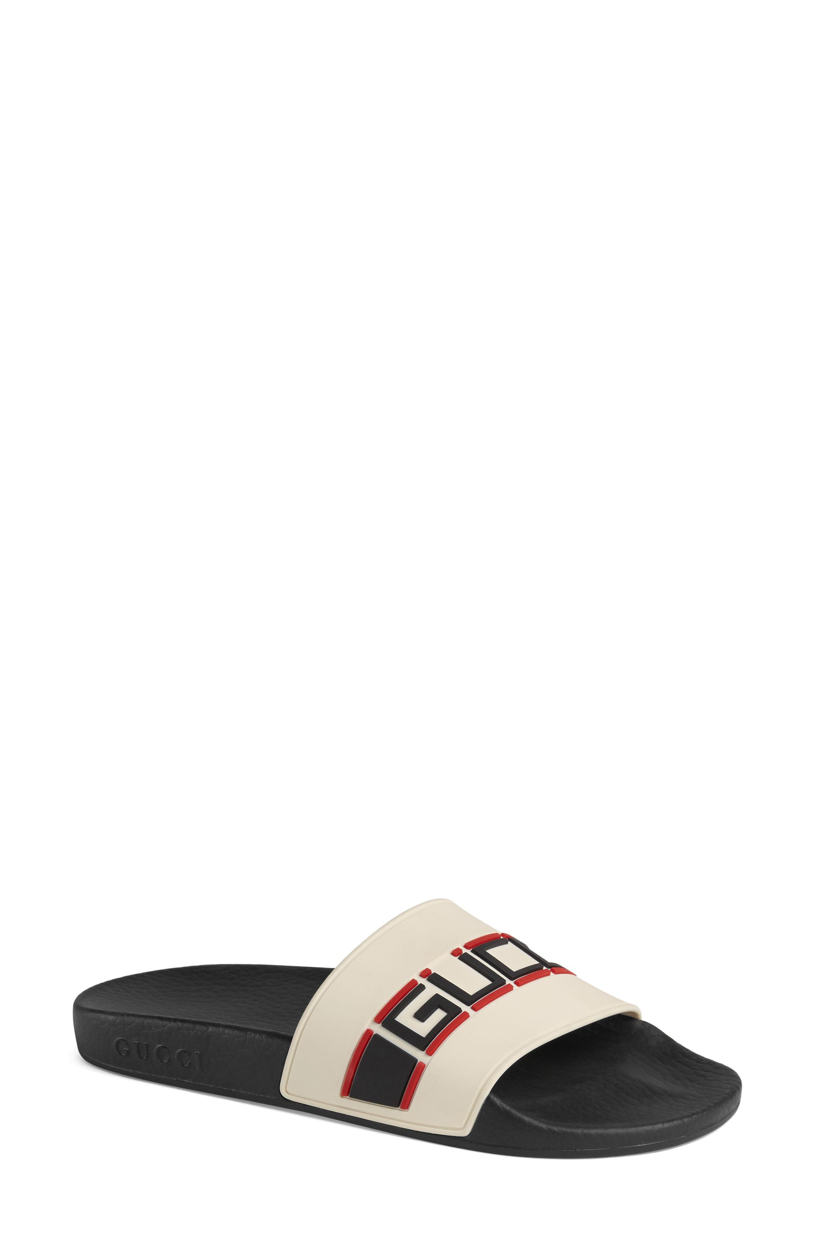 Gucci Pursuit Logo Slide Sandal (Women)