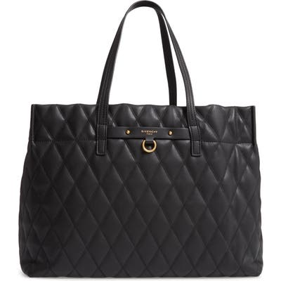 Givenchy Quilted East/west Faux Leather Shopper - Black