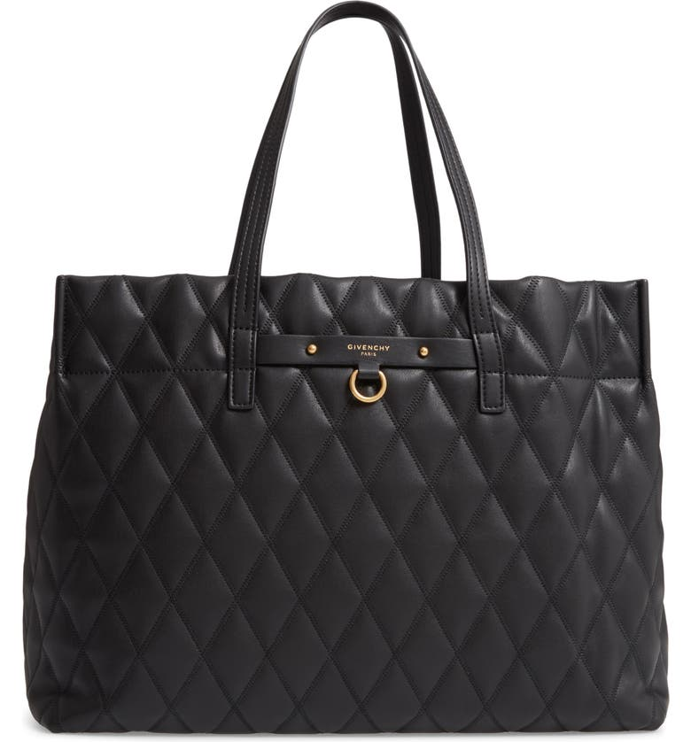 Givenchy Quilted East West Faux Leather Shopper