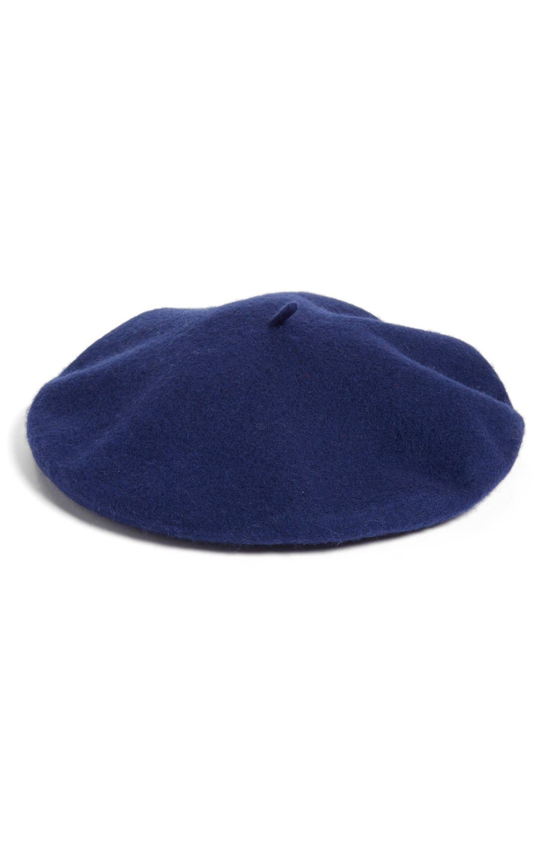 ,                             Wool Blend Beret,                             Main thumbnail 16, color,                             410