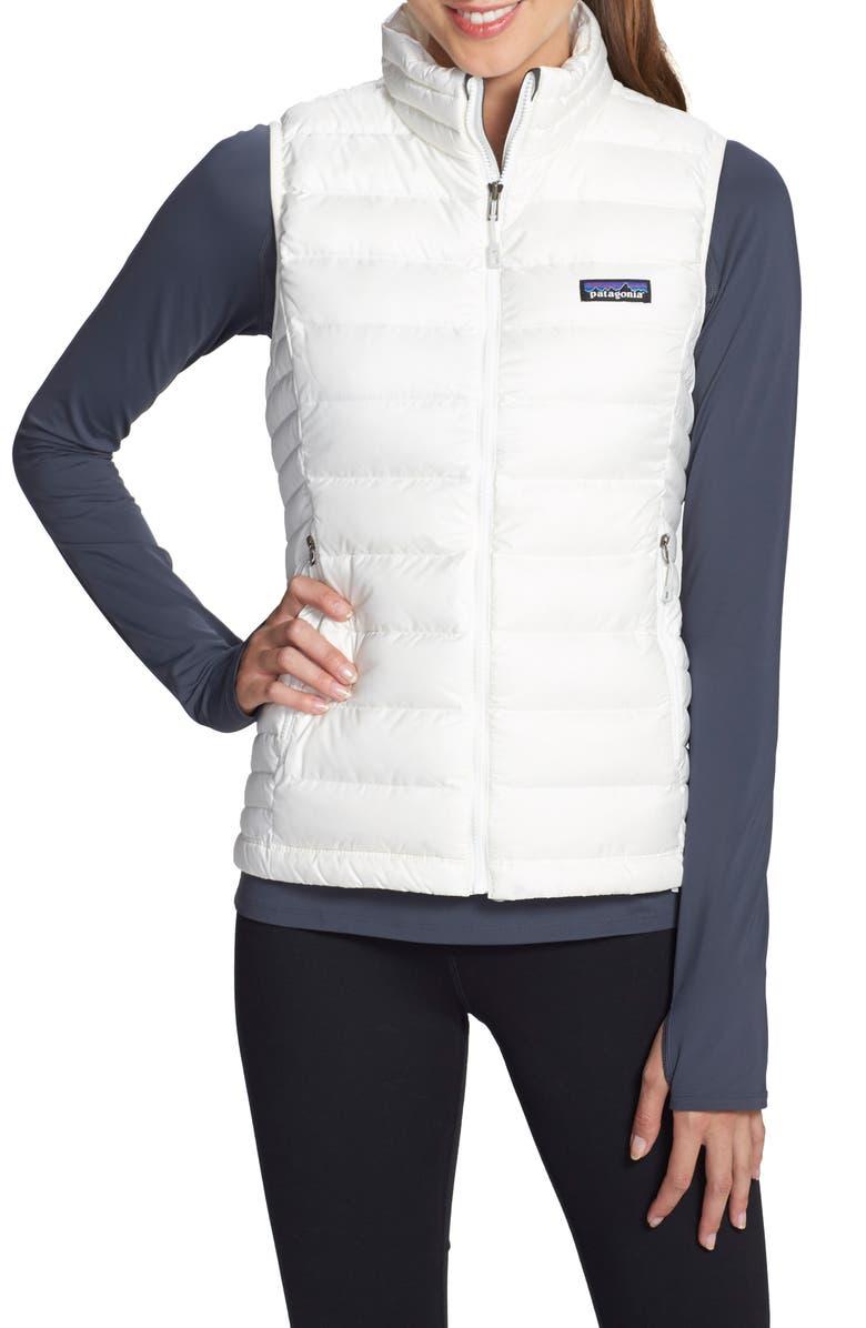 PATAGONIA Down Vest, Main, color, BIRCH WHITE