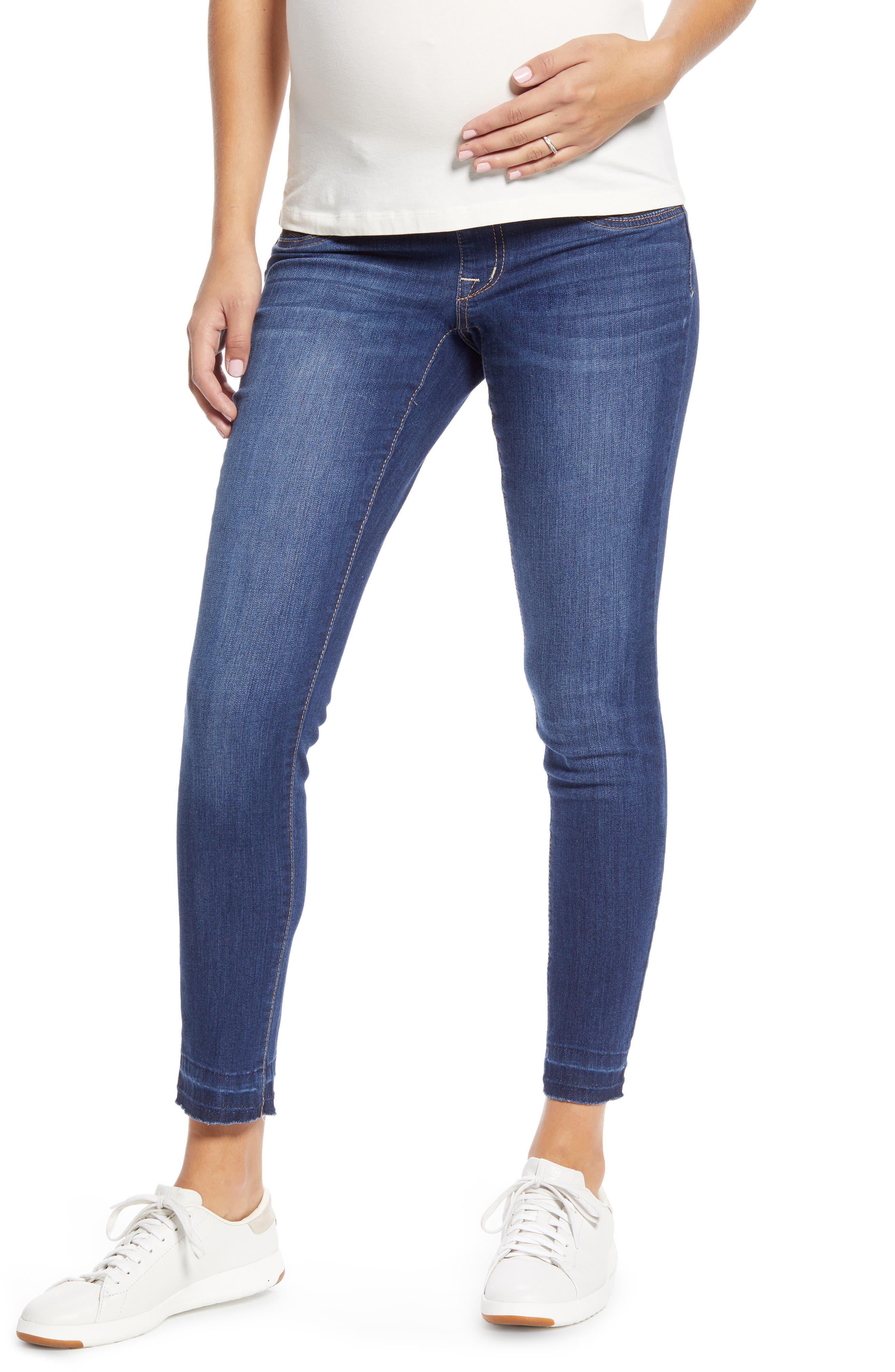Women's 1822 Denim Released Raw Hem Maternity Skinny Jeans