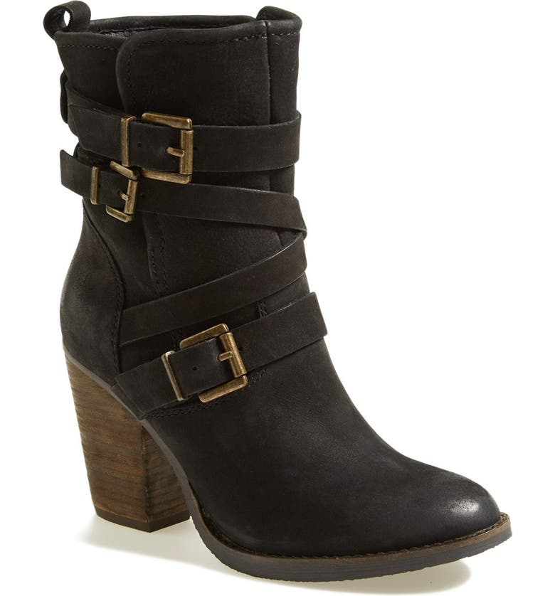 STEVE MADDEN 'Yale' Belted Boot, Main, color, 001