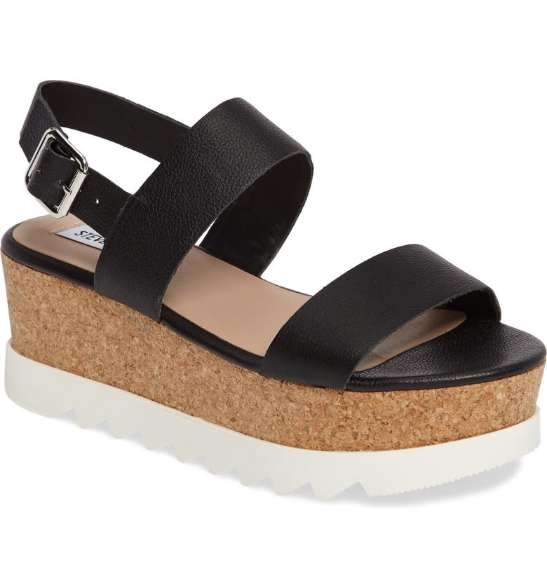STEVE MADDEN Krista Wedge Sandal, Main, color, 001