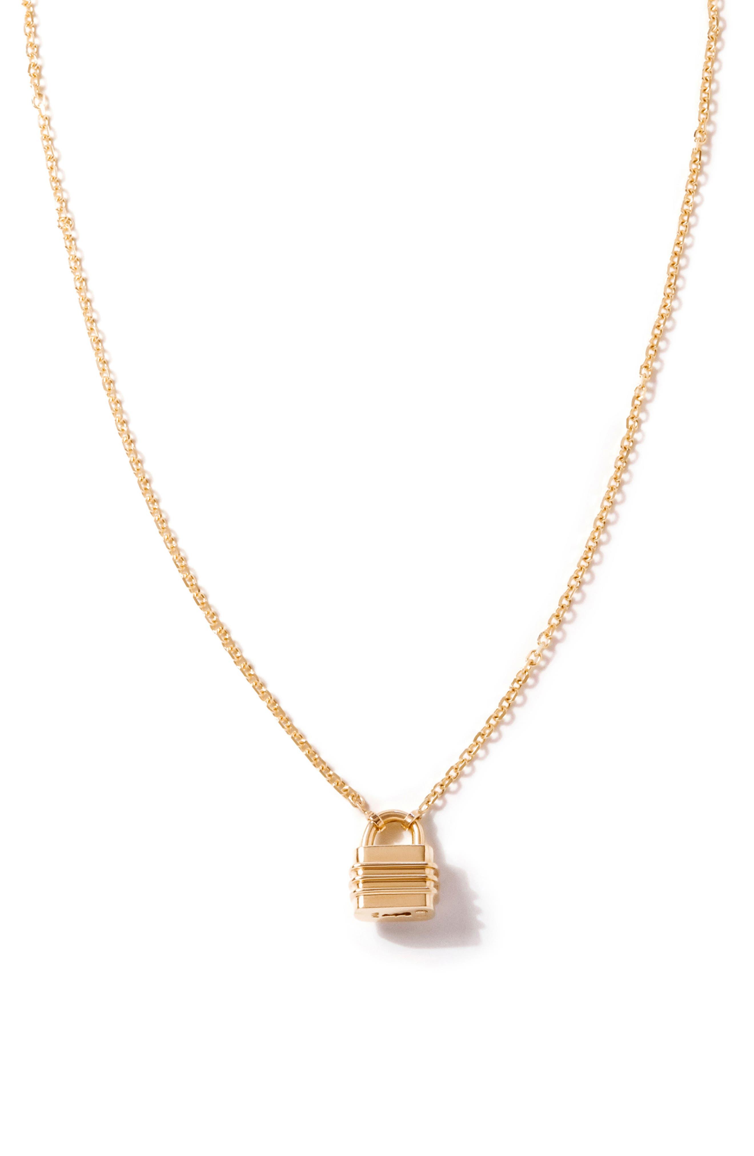 Liberte 14K Gold Pendant Necklace/charm Bracelet