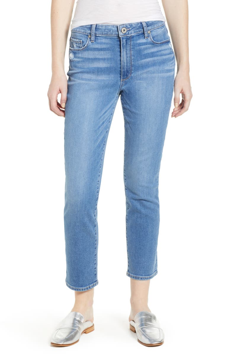 PAIGE Transcend Vintage - Jimmy Jimmy High Waist Crop Boyfriend Jeans, Main, color, 400