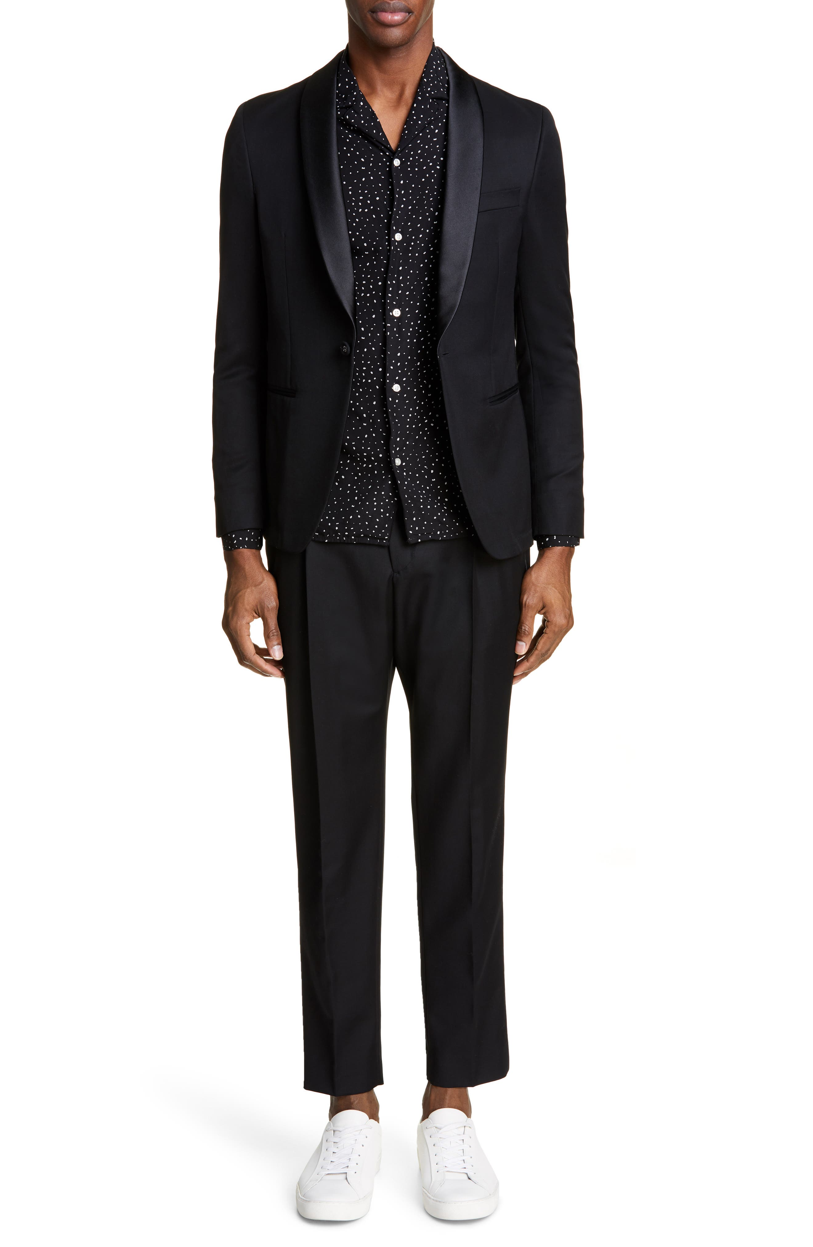 ,                             Wool Dinner Jacket,                             Alternate thumbnail 7, color,                             BLACK