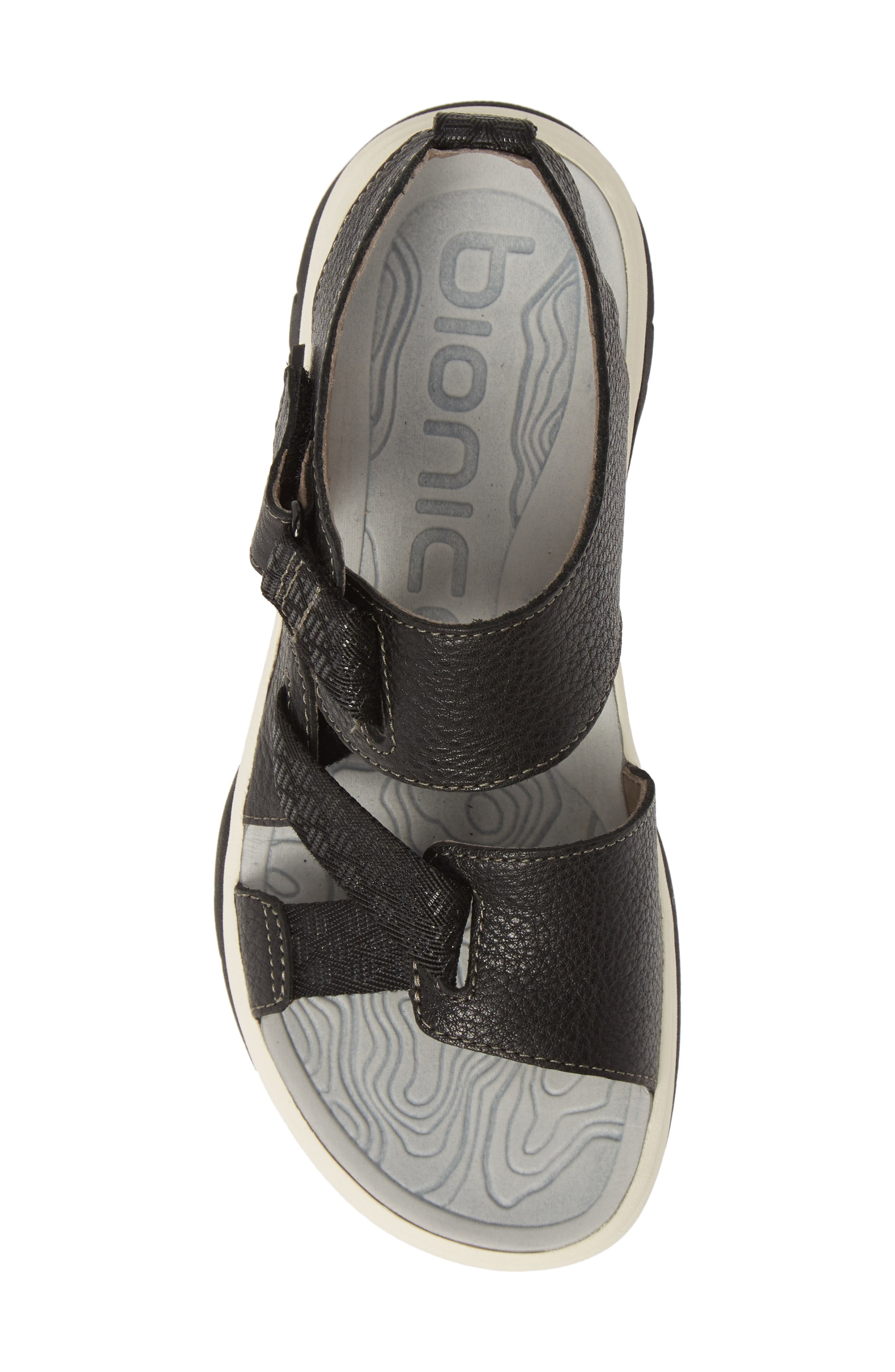 ,                             Nahla Water Friendly Sandal,                             Alternate thumbnail 5, color,                             BLACK LEATHER