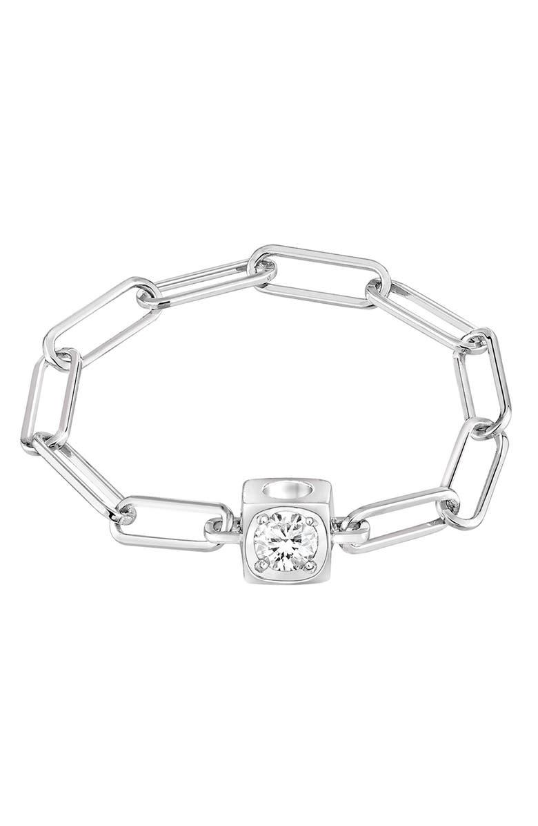 DINH VAN Le Cube Diamant 18K Gold Chain Ring, Main, color, 711