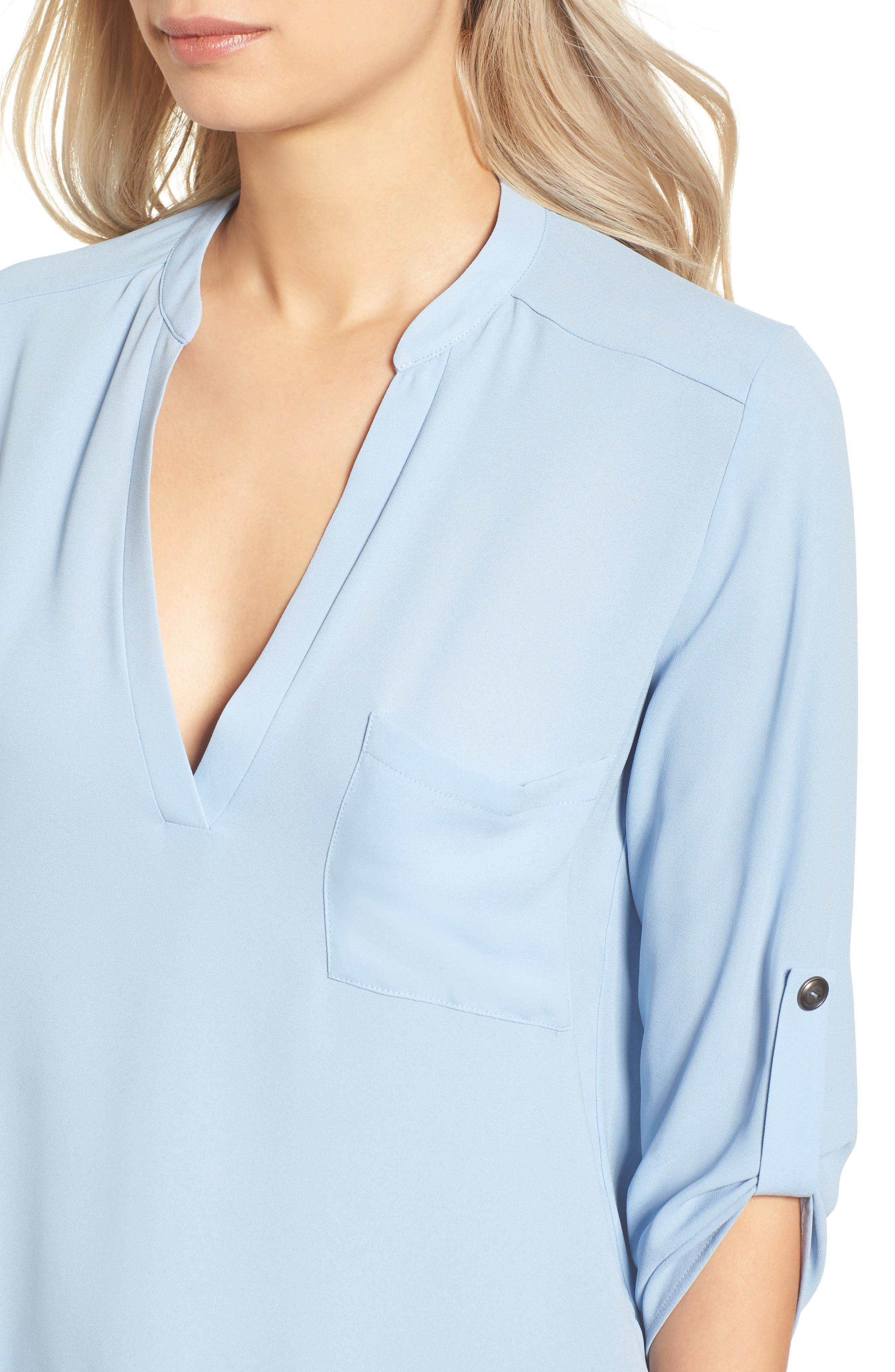 ,                             Perfect Roll Tab Sleeve Tunic,                             Alternate thumbnail 261, color,                             401