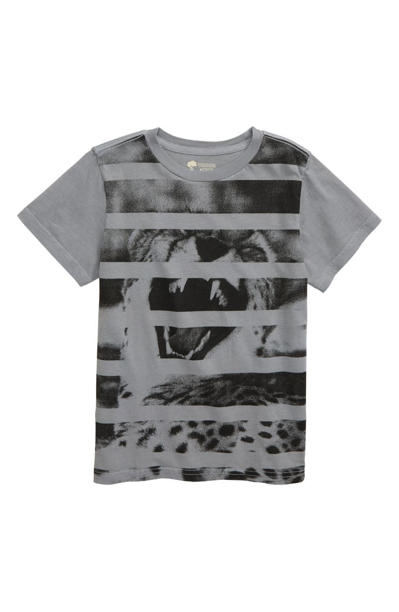 TUCKER + TATE Roaring with Laughter T-Shirt, Main, color, GREY ALLOY