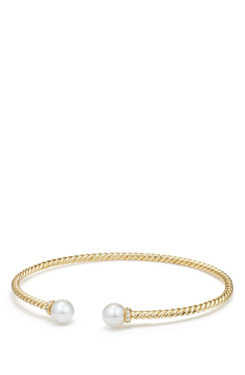 DAVID YURMAN Solari Pearl Bracelet with Diamonds in 18K Gold, Main, color, YELLOW GOLD/ DIAMOND