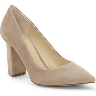Vince Camuto Candera Pointed Toe Pump, Beige