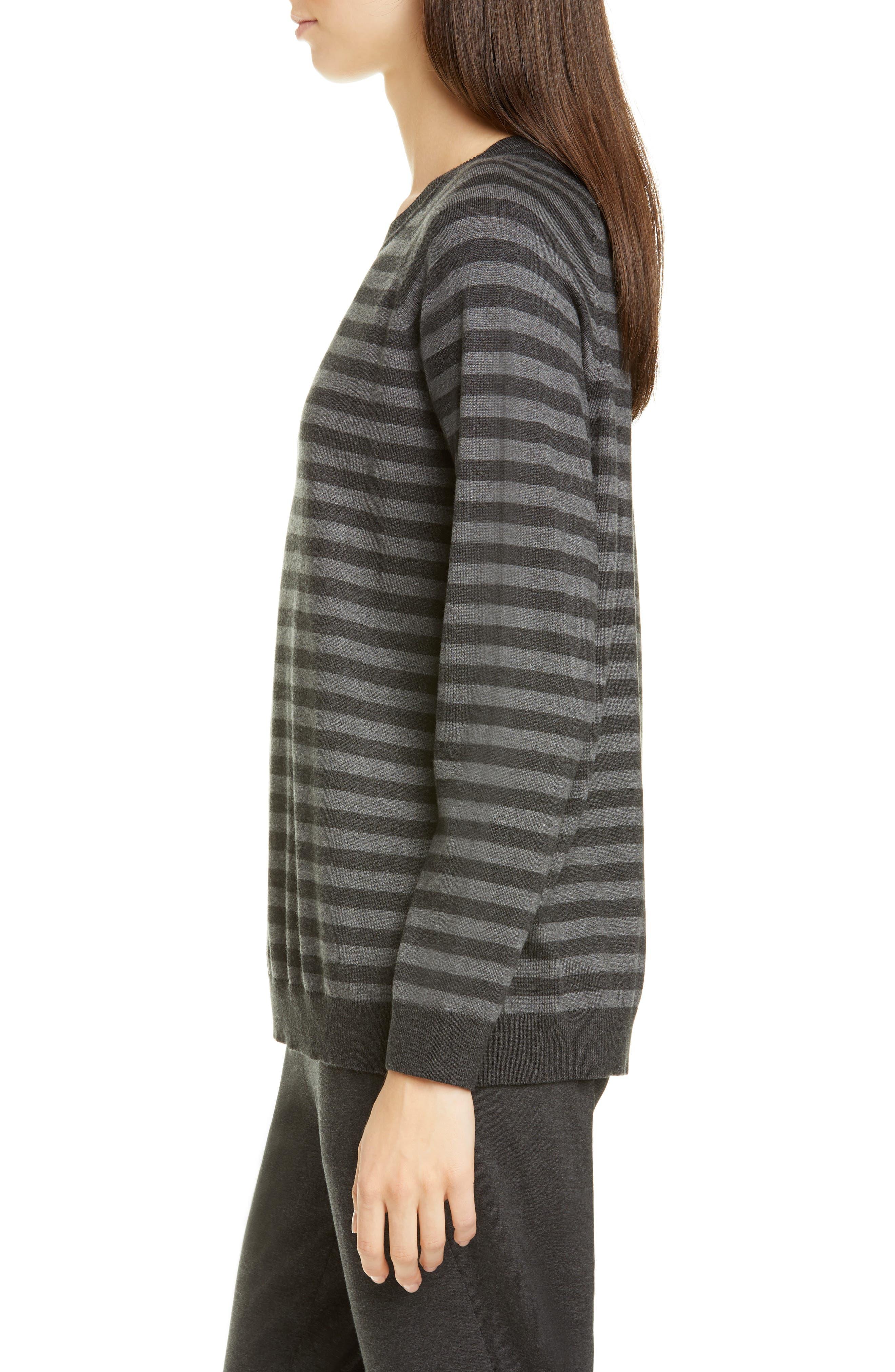 Eileen Fisher Sweaters Stripe Crewneck Sweater