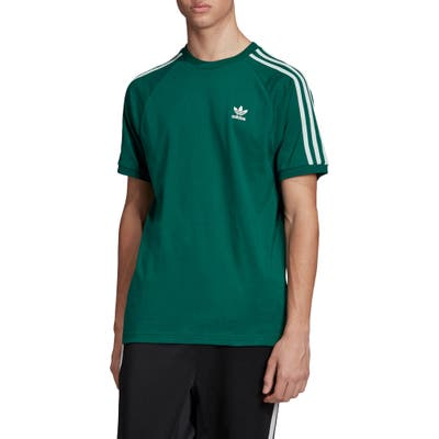 Adidas Originals 3-Stripe Raglan T-Shirt, Green