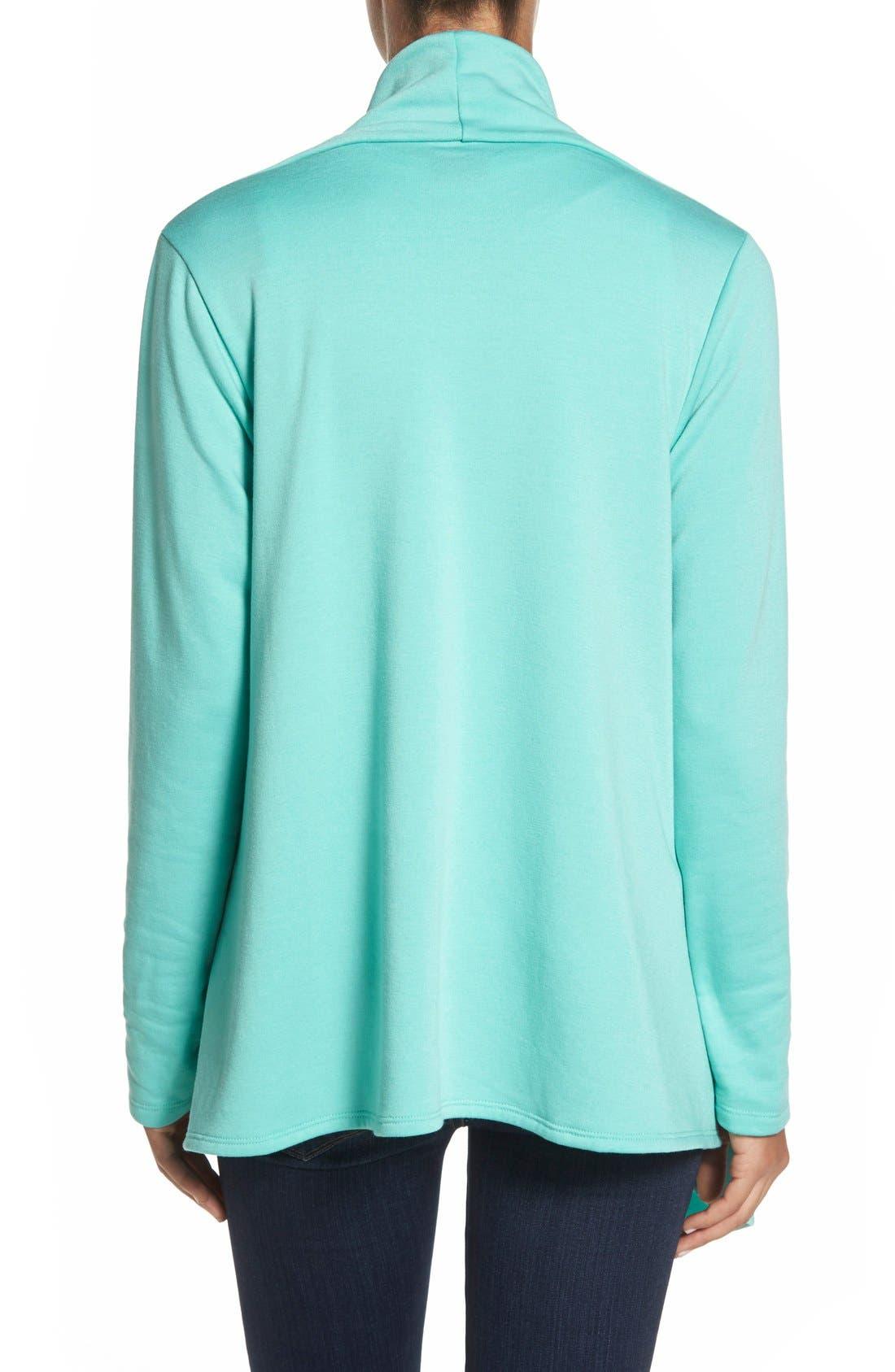 ,                             One-Button Fleece Wrap Cardigan,                             Main thumbnail 137, color,                             440