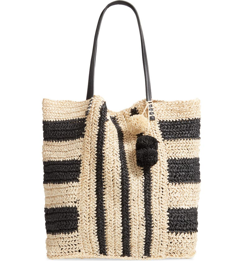 L SPACE Sophia Straw Tote, Main, color, 001