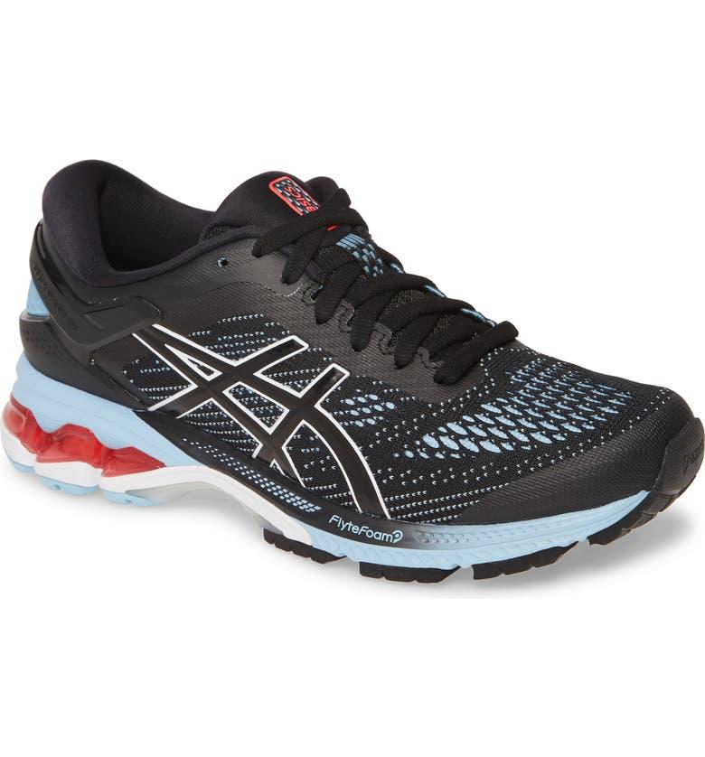 ASICS<SUP>®</SUP> GEL-Kayano<sup>®</sup> 26 Running Shoe, Main, color, BLACK/ HERITAGE BLUE