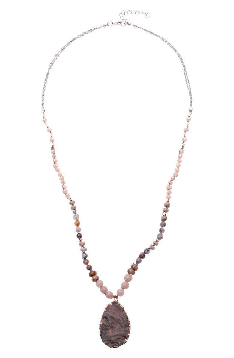 NAKAMOL CHICAGO Quartz Pendant Necklace, Main, color, 270