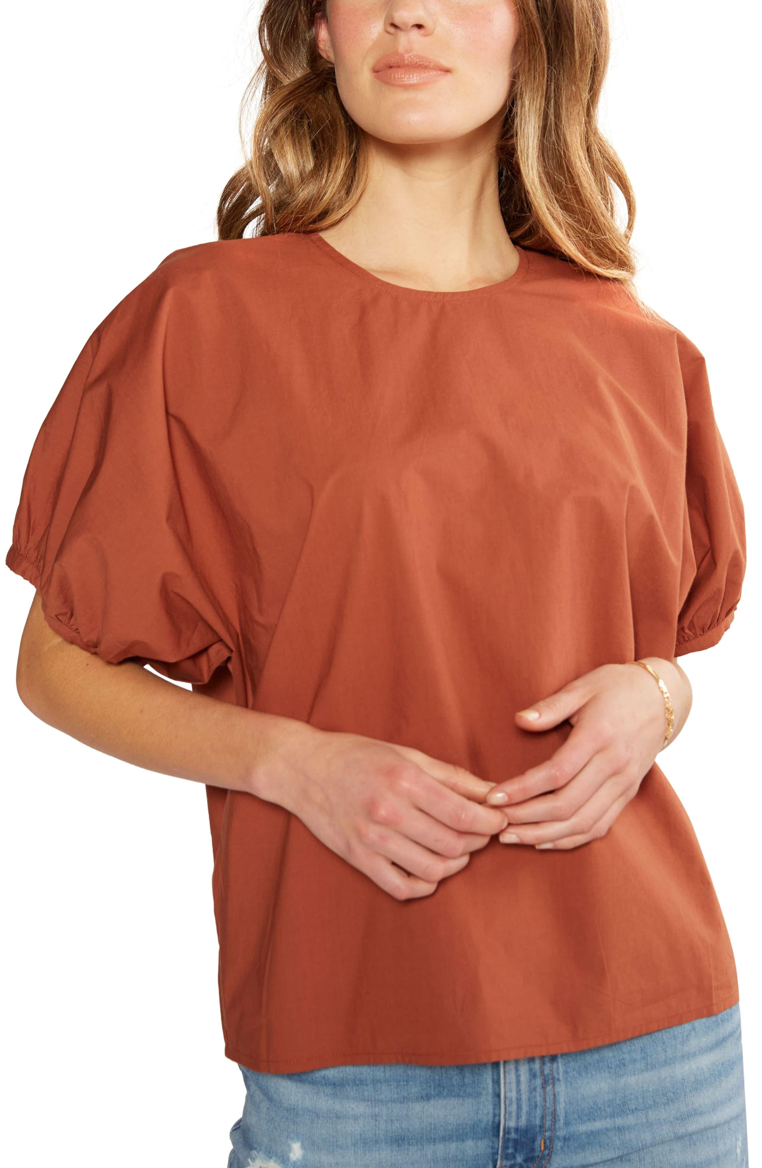Women's Etica Tempeste Puff Sleeve Organic Cotton Top