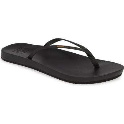 Reef Cushion Bounce Slim Flip Flop, Black