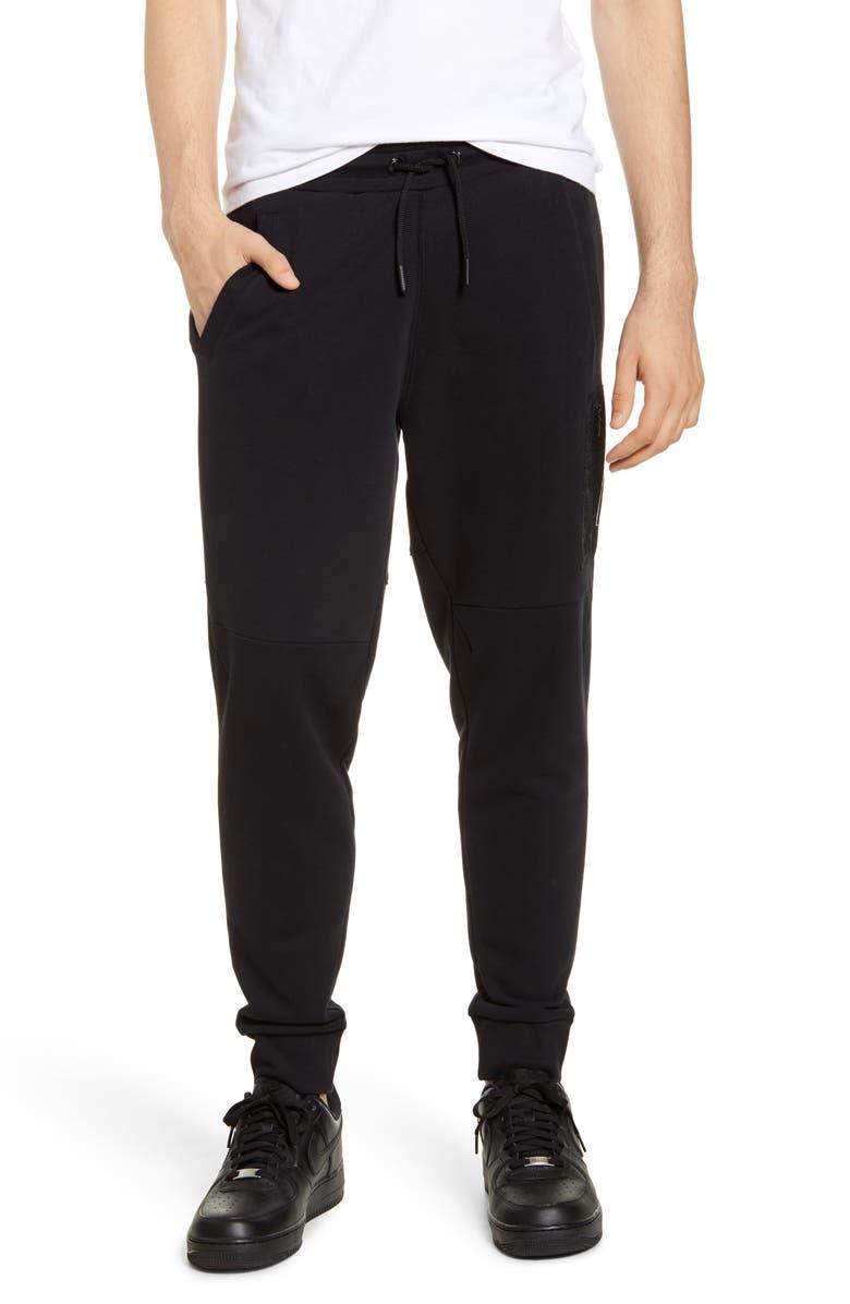 SCOTCH & SODA Sunday Sweatpants, Main, color, BLACK