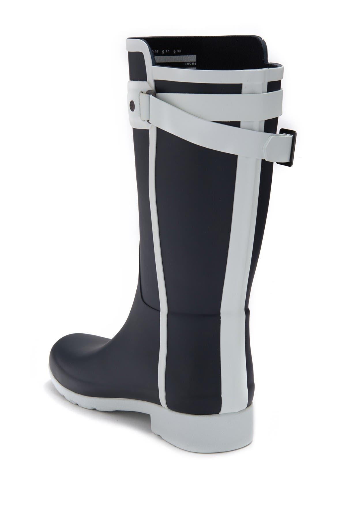 Hunter Refined Slim Fit Contrast Short Rain Boot