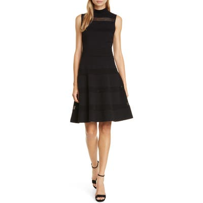 Kate Spade New York Fit & Flare Sweater Dress, Black