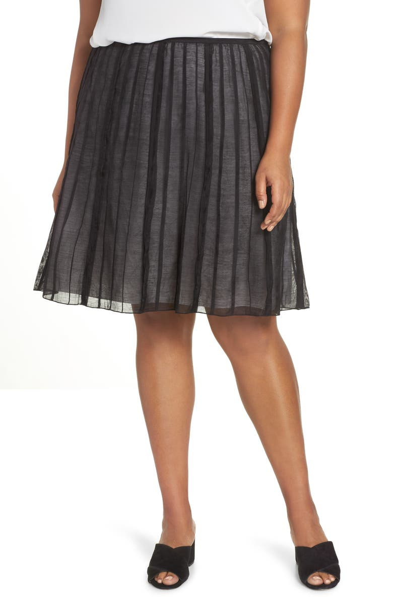 NIC+ZOE Batiste Flirt Skirt, Main, color, BLACK ONYX