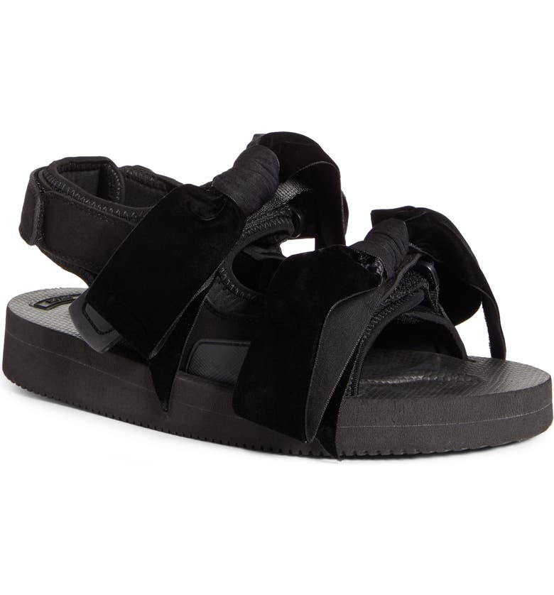 CECILIE BAHNSEN x Suicoke April Sandal, Main, color, BLACK