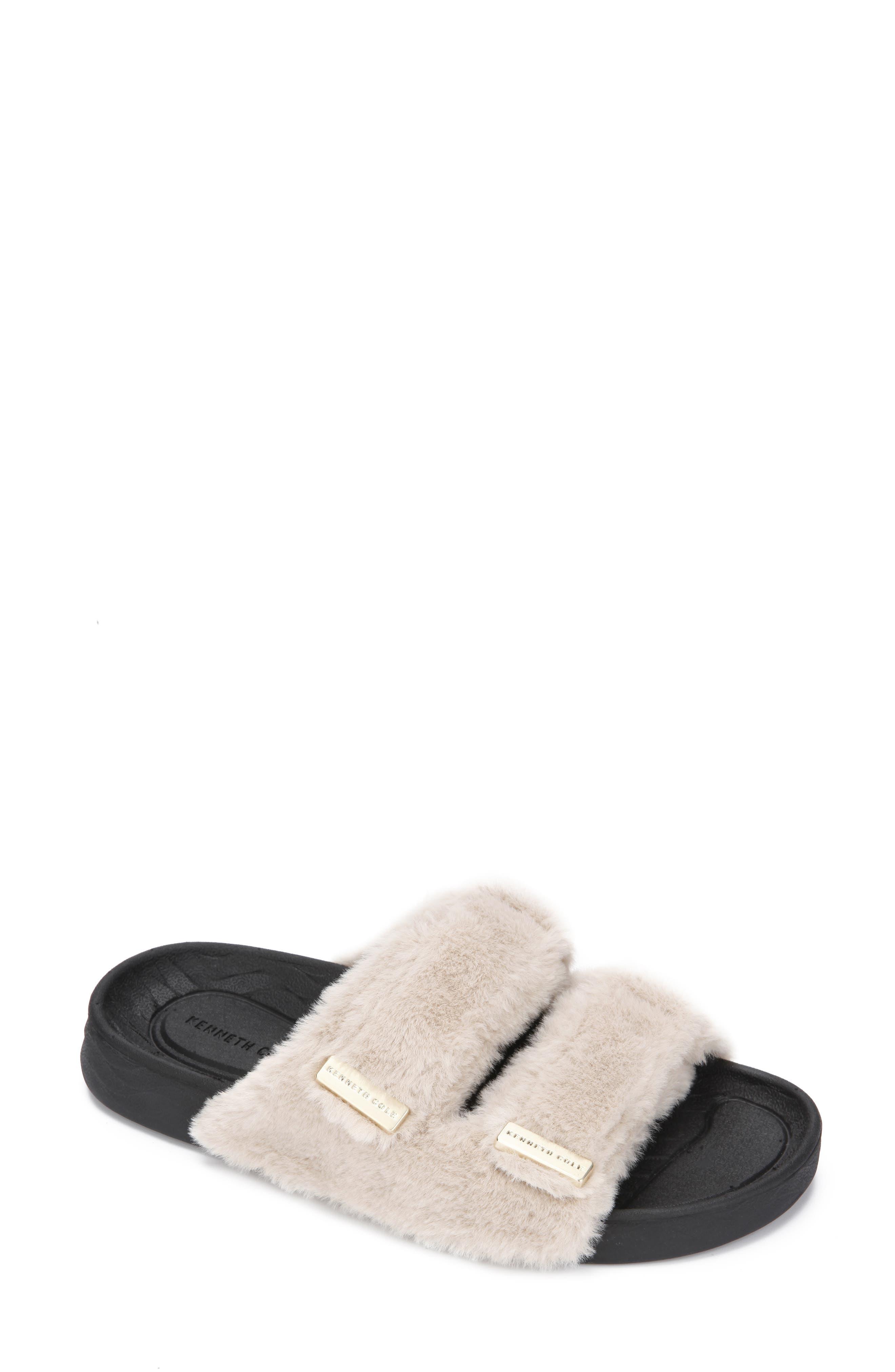 Nova Faux Fur Slide Sandal
