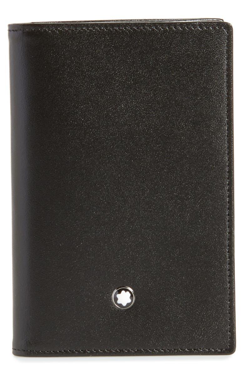 MONTBLANC Meisterstück Leather Card Case, Main, color, BLACK