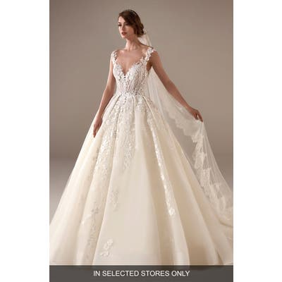 Pronovias Marissa Embellished Ballgown Wedding Dress, Size IN STORE ONLY - Ivory