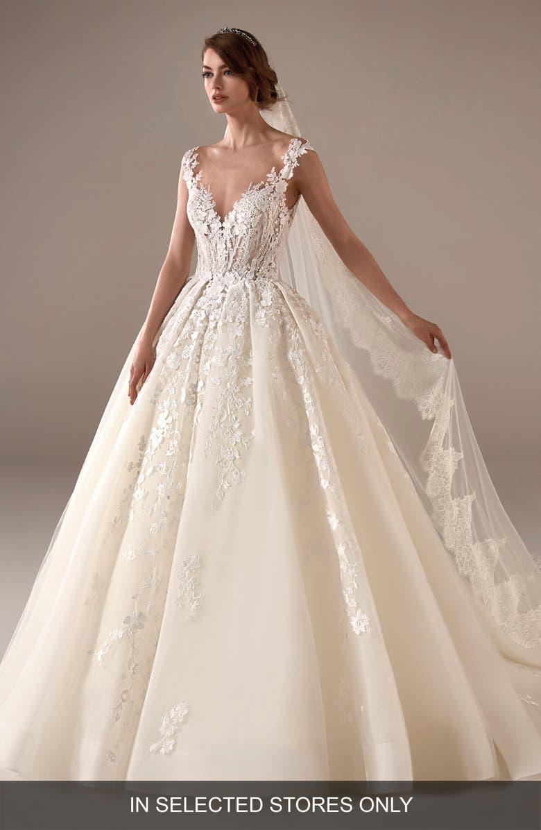 pronovias marissa embellished ballgown wedding dress | nordstrom