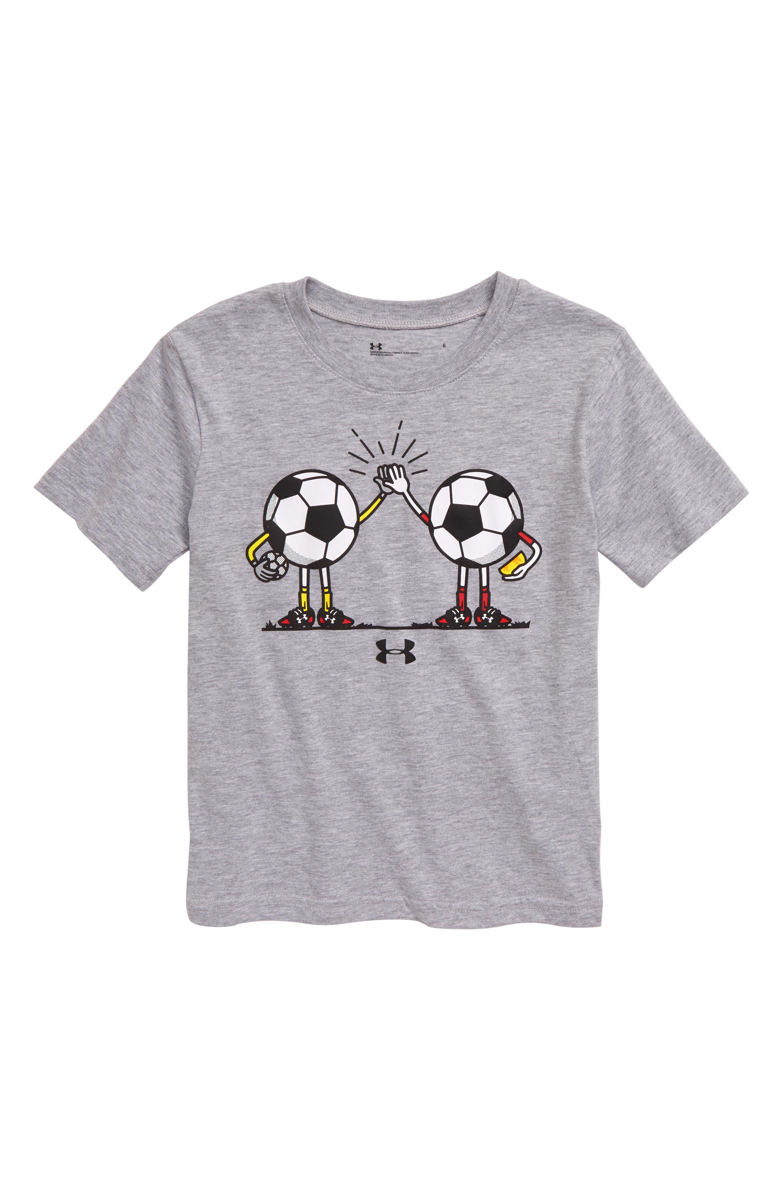 Toddler Boys Under Armour High Five Heatgear TShirt Size 2T  Grey
