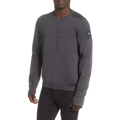 Canada Goose Conway Crewneck Merino Wool Blend Sweater, Grey