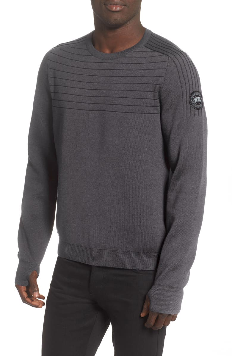CANADA GOOSE Conway Crewneck Merino Wool Blend Sweater, Main, color, IRON GREY