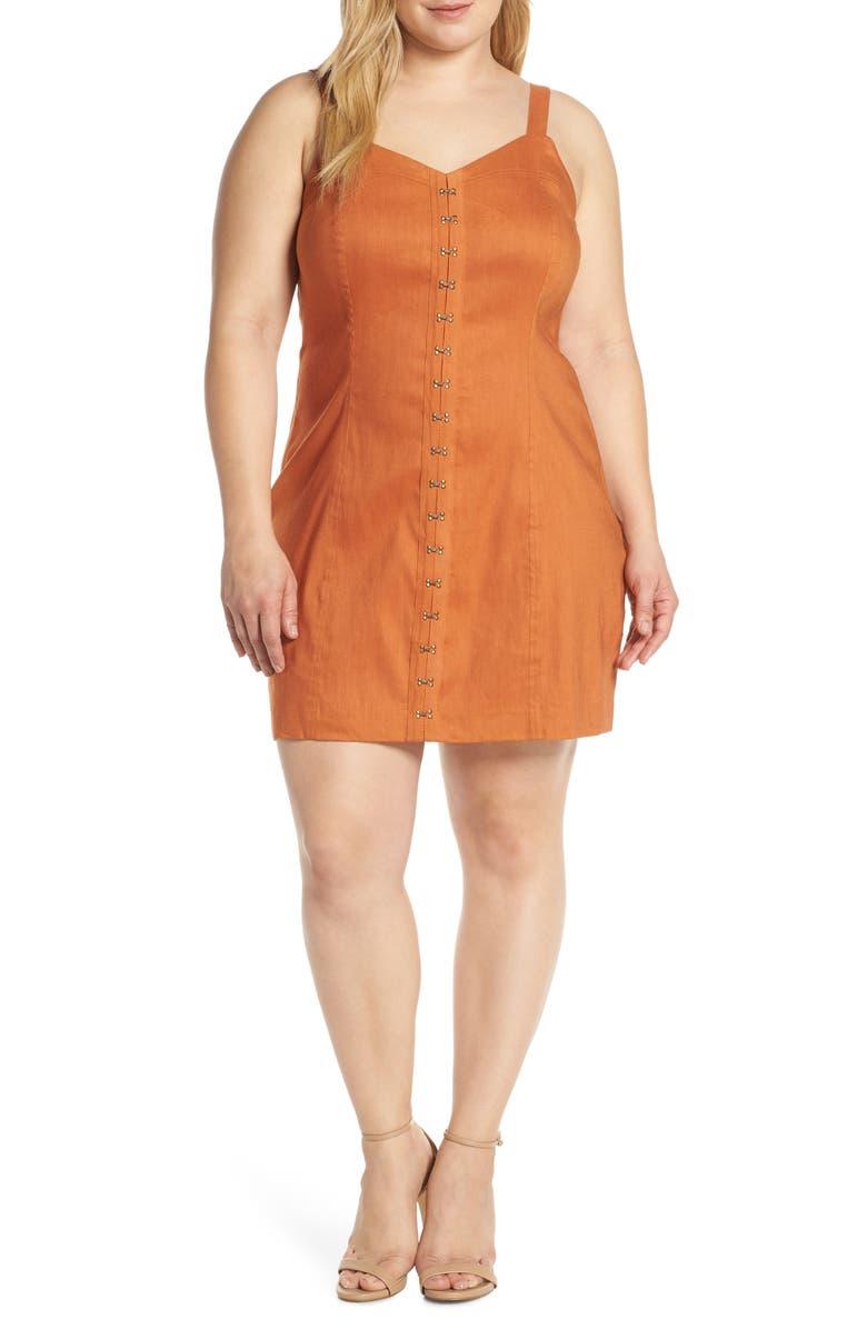LEITH Corset Detail Minidress, Main, color, 210