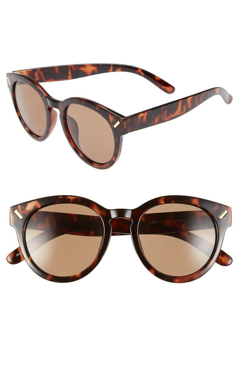 BP. 'Bar' 55mm Retro Sunglasses, Main, color, 200