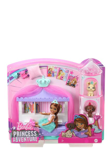 Image of Mattel Barbie® Princess Adventure™ Chelsea™ Princess Storytime Playset, with Chelsea™ Doll,