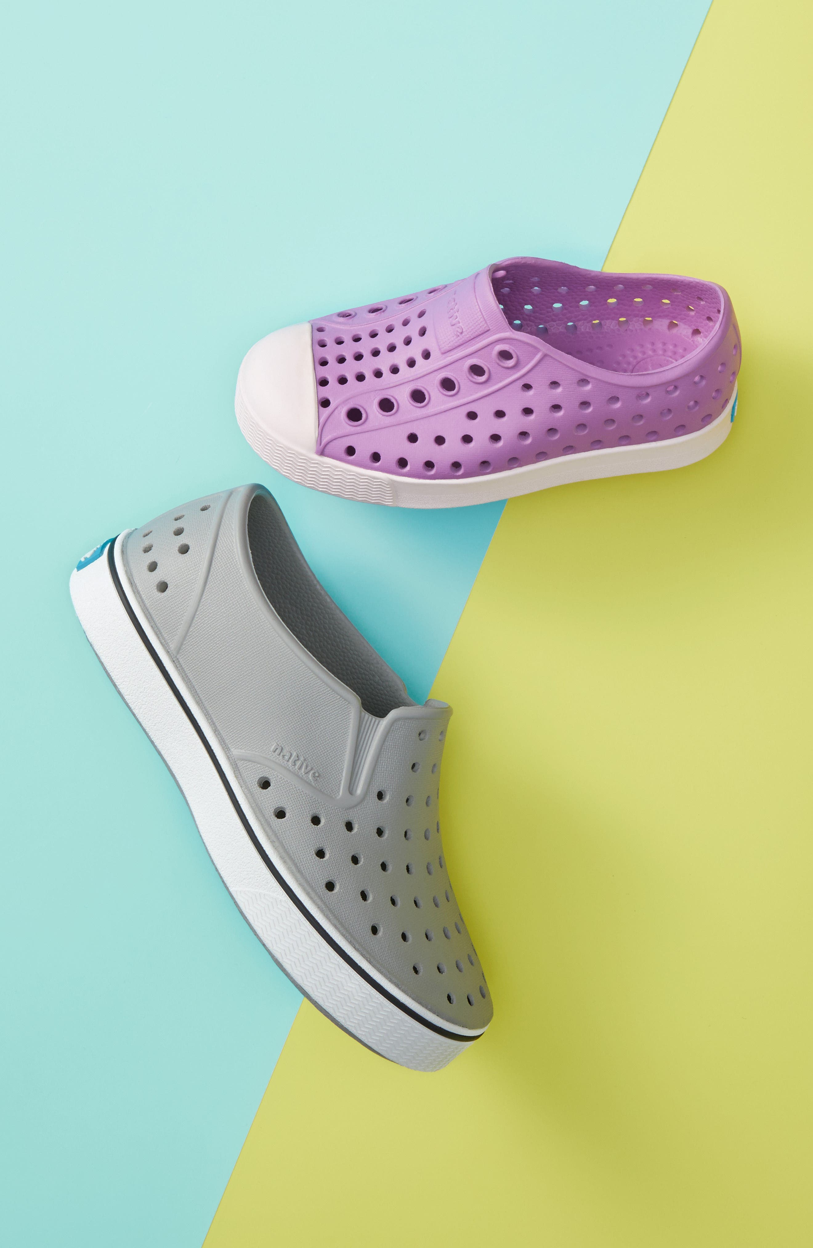 ,                             Miles Water Friendly Slip-On Vegan Sneaker,                             Alternate thumbnail 8, color,                             PIGEON GREY/ SHELL WHITE