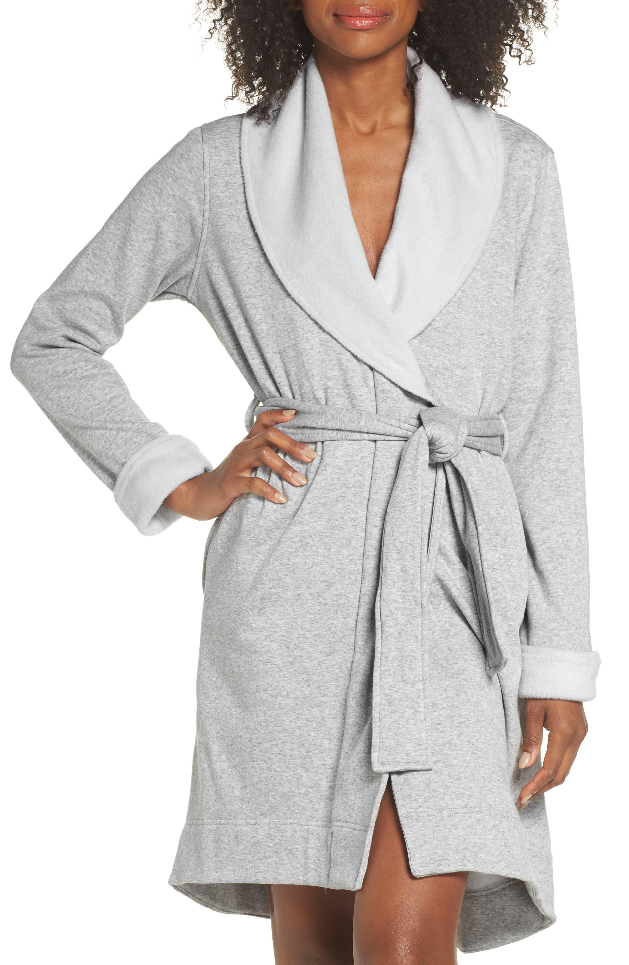 Blanche II Short Robe, Main, color, SEAL HEATHER