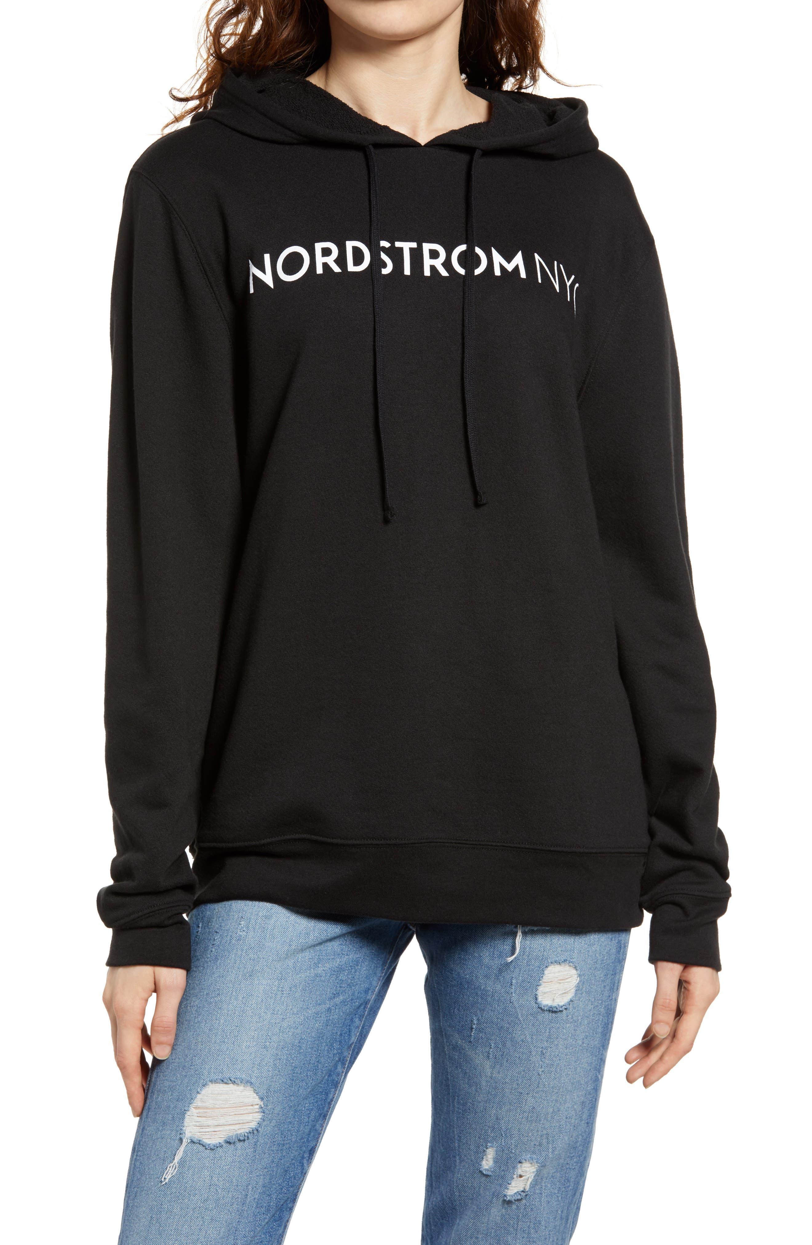 Nordstrom Nyc Wink Emoji Graphic Hoodie Sweatshirt