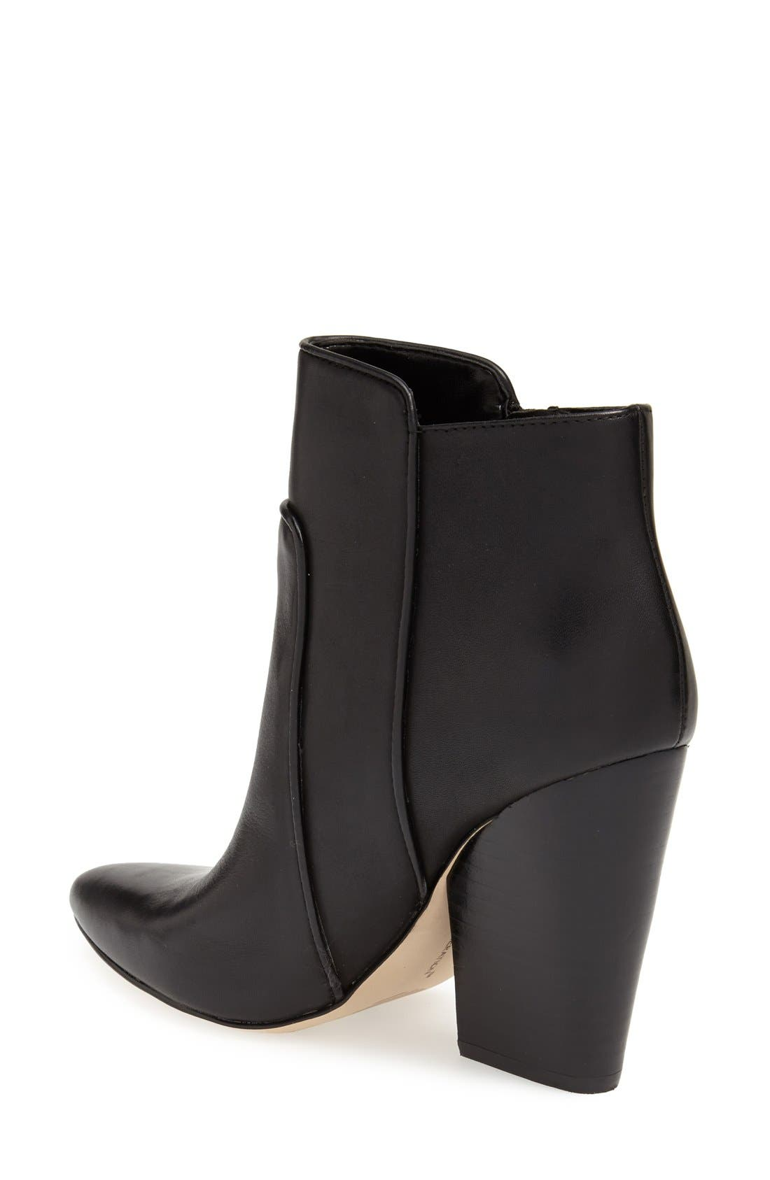 ,                             'Jules' Pointy Toe Leather Bootie,                             Alternate thumbnail 2, color,                             002