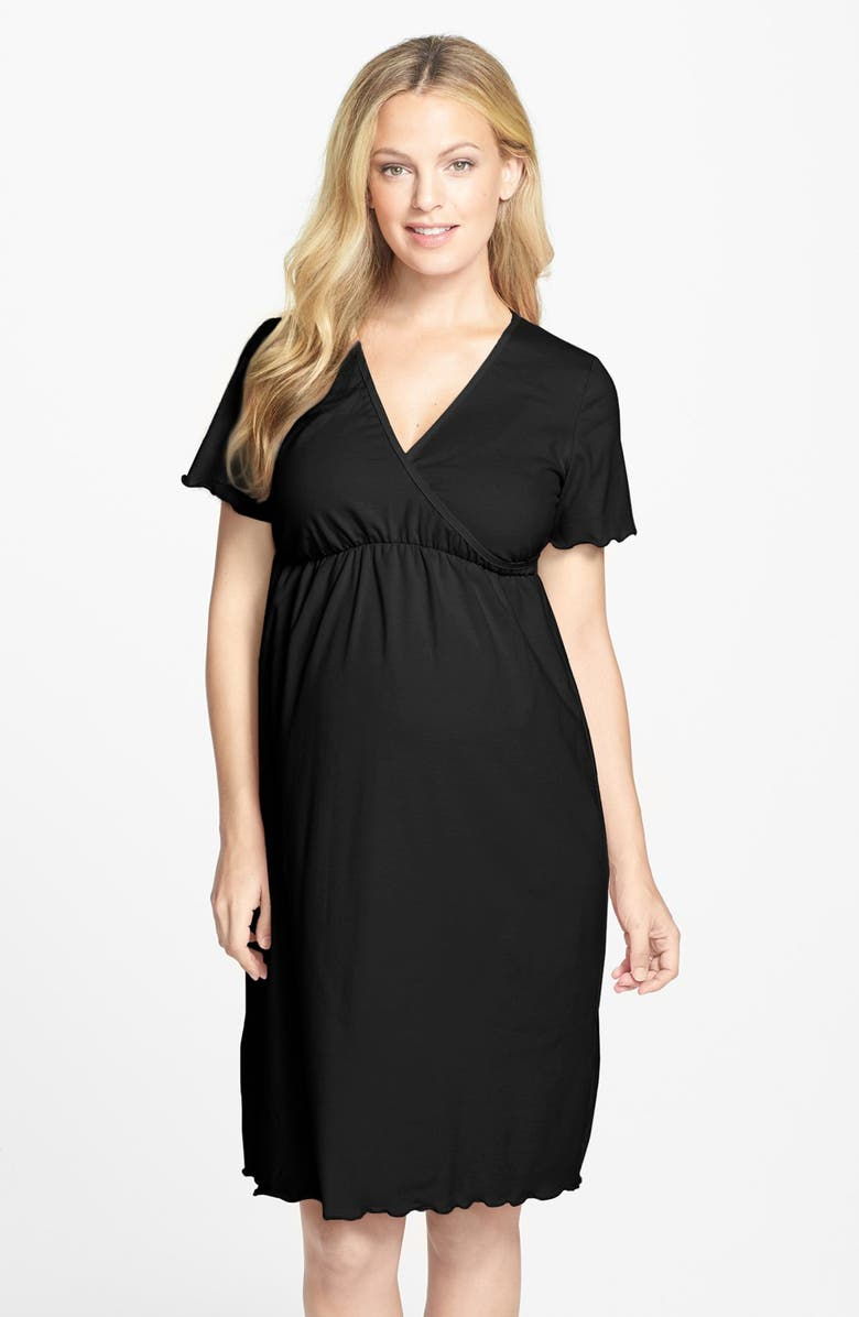 f3b653d0376fd Japanese Weekend Surplice Maternity/Nursing Nightgown | Nordstrom