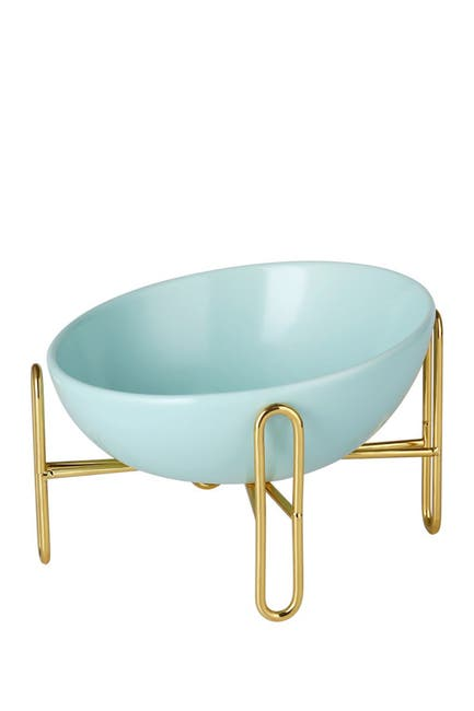 Image of Dogs of Glamour Lorenzo Elegant Dog Bowl - Teal